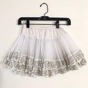 Halloween 🎃 Sequin Hem Petticoat Skirt